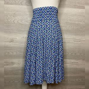 Blue & White A Line Skirt by Max Studio Size Large